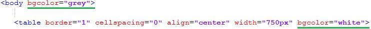 Цвет фона html