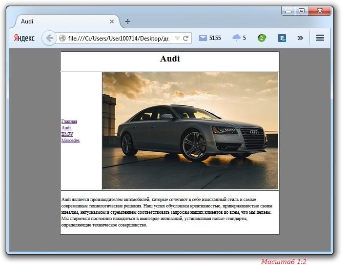 Страница html