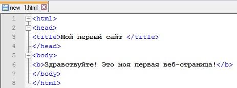 Добавляем тег в код html